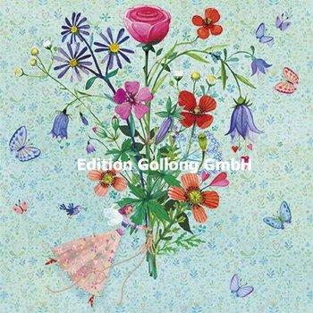 Mila Marquis Postcard   Happy birthday (Elfe mit Blumen)