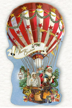 Shaped Postcard Edition Tausendschoen Specials   Christmas Balloon WITH ENVELOPE