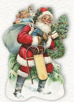 Shaped Postcard Edition Tausendschoen Specials   Santa WITH ENVELOPE