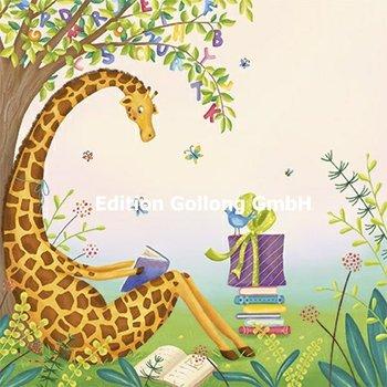 Tatjana Heimler Postcard   Giraffe met boek