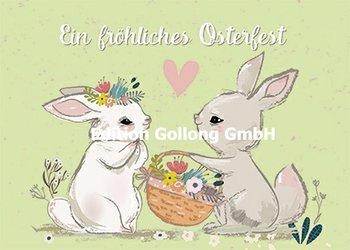 Shutterstock - Elena Barenbaum Postcard | Fröhliches Osterfest (Hasen)