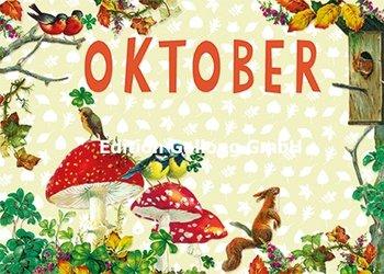 Carola Pabst Postcard | Oktober (Vintage)