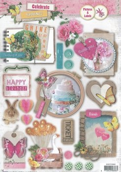 Studio Light Easy 3D Die-cut sheet A4   Celebrate spring