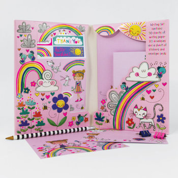 Rachel Ellen Designs Writing Set WALLET - Over the Rainbow