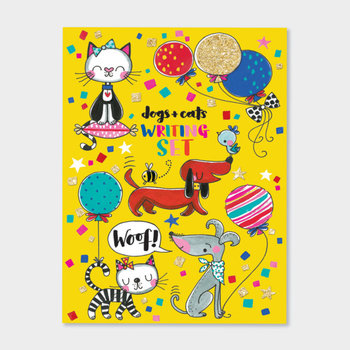 Rachel Ellen Designs Writing Set WALLET - Dogs & Cats