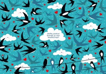 Lali Postcard | Zoekopdracht Welke zwaluw brengt je een boodschap?