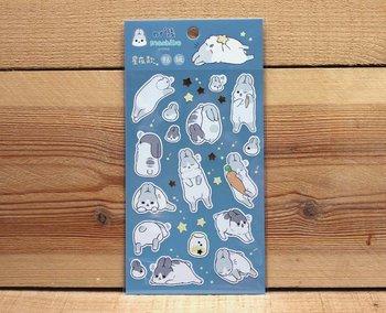 Machiko Bunny Stickers (Starry Night)