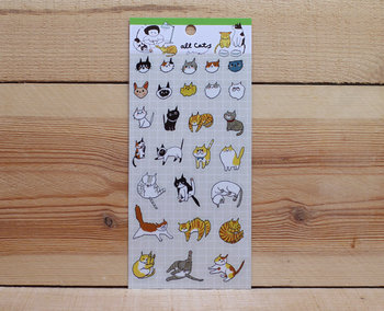 Mia Cats Clear Stickers