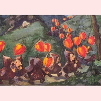 Postcard Mili Weber - Lanterns
