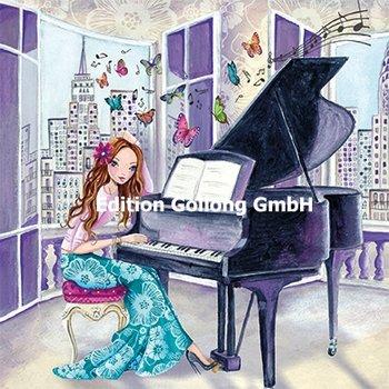 Cartita Design Postcard   Vrouw bij piano