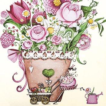 Sabina Comizzi Postcard   Boeket bloemen