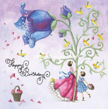 Nina Chen Postcard   Happy Birthday (Figuren und Glocke)