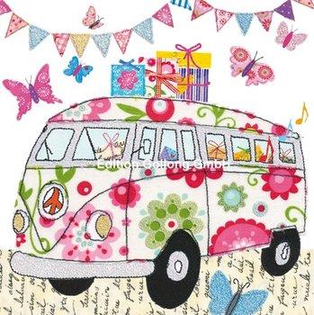 Nina Chen Postcard   VW-Bus