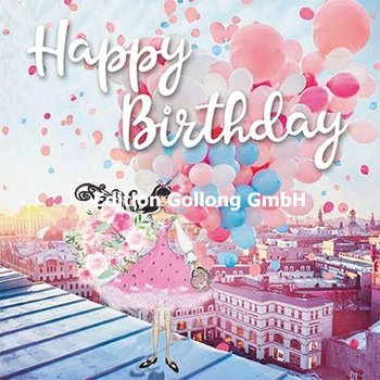 Sabina Comizzi Postcard   Happy Birthday (Vrouw met ballonnen)