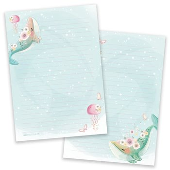 A5 Whales Notepad - Double Sided