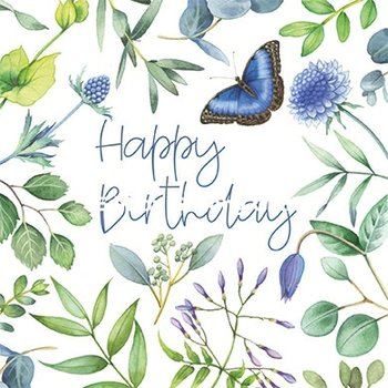 Nina Chen Postcard | Happy birthday (Flowers, butterfly)