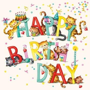 Nina Chen Postcard   Happy birthday (Cats)