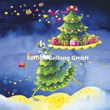 Nina Chen Postcard Christmas   Woman with fir tree