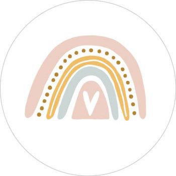5 Stickers   Rainbow White