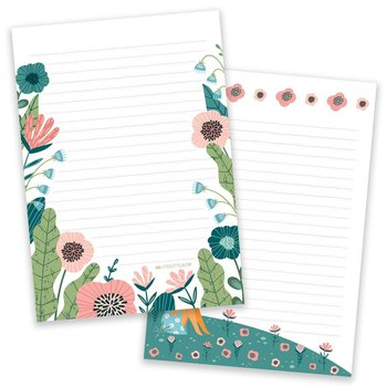A5 Flower Field Notepad - Double Sided