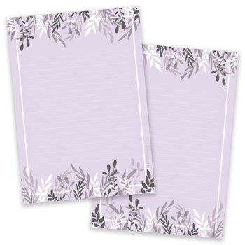 A5 Foliage Purple Notepad - Double Sided
