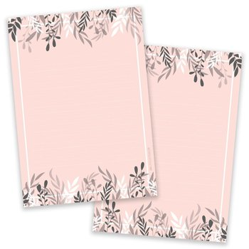A5 Foliage Salmon Notepad - Double Sided