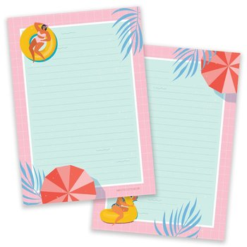 A5 Pool Party Notepad - Double Sided