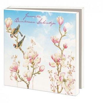 Card folder with envelopes - square: Vogels, vlinders en bloemen, Janneke Brinkman-Salentijn