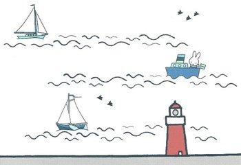 Nijntje Miffy Postcards | Calm Coast - Vuurtoren