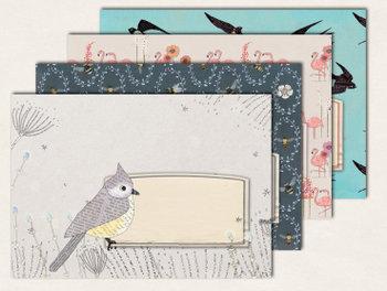 10 x Briefumschläge TikiOno   Mix Tiere