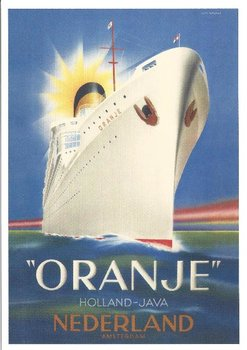 Museum Cards Postcard | Het passagiersschip Oranje