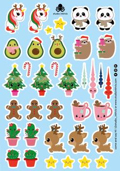A5 Sticker Sheet 36 STICKERS - XMAS