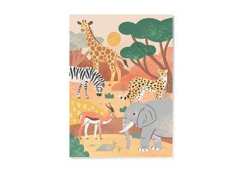 Safari Animals Postcard