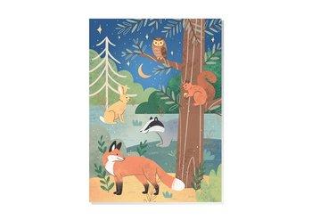 Woodland Animals Postcard