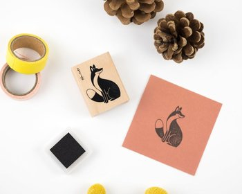 Woodland Animals Rubberstamp - Fox