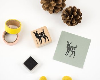 Woodland Animals Rubberstamp - Baby Deer