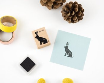 Woodland Animals Rubberstamp - Rabbit