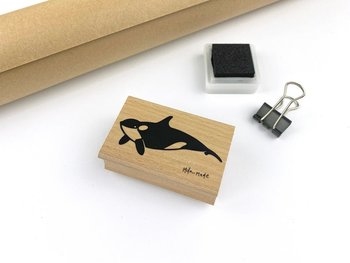 Ocean Animals Rubberstamp - killer whale