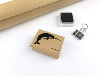 Ocean Animals Rubberstamp - Narwhal