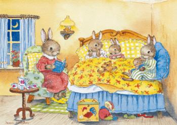 Postcard Jean Gilder | Bunnie's Bedtime Story