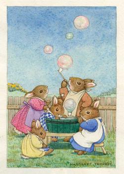 Postcard Margaret Tempest | Soap Bubbles