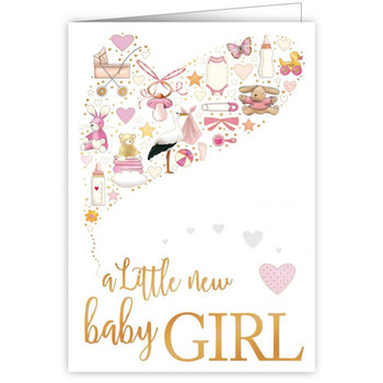 Greeting Card - A little new baby girl