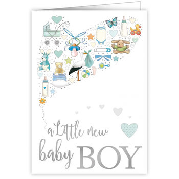 Greeting Card - A little new baby boy