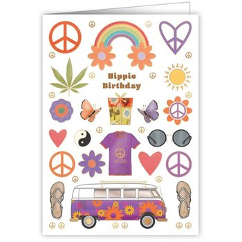Greeting Card - Hippie Birthday