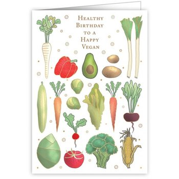 Greeting Card - Healthy Birthday to a Happy Vegan