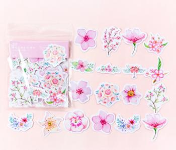 Sticker Flakes | Summer Flowers Pink