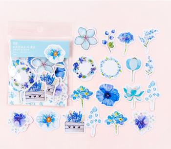 Sticker Flakes | Summer Flowers Blue