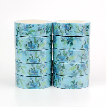Washi Masking Tape | Blue Flower