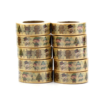 Washi Masking Tape | Cute Christmas Figures