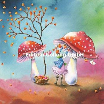 Nina Chen Postcard | Woman with mushrooms